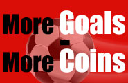 Your special bonus for football season: More goals - more coins!